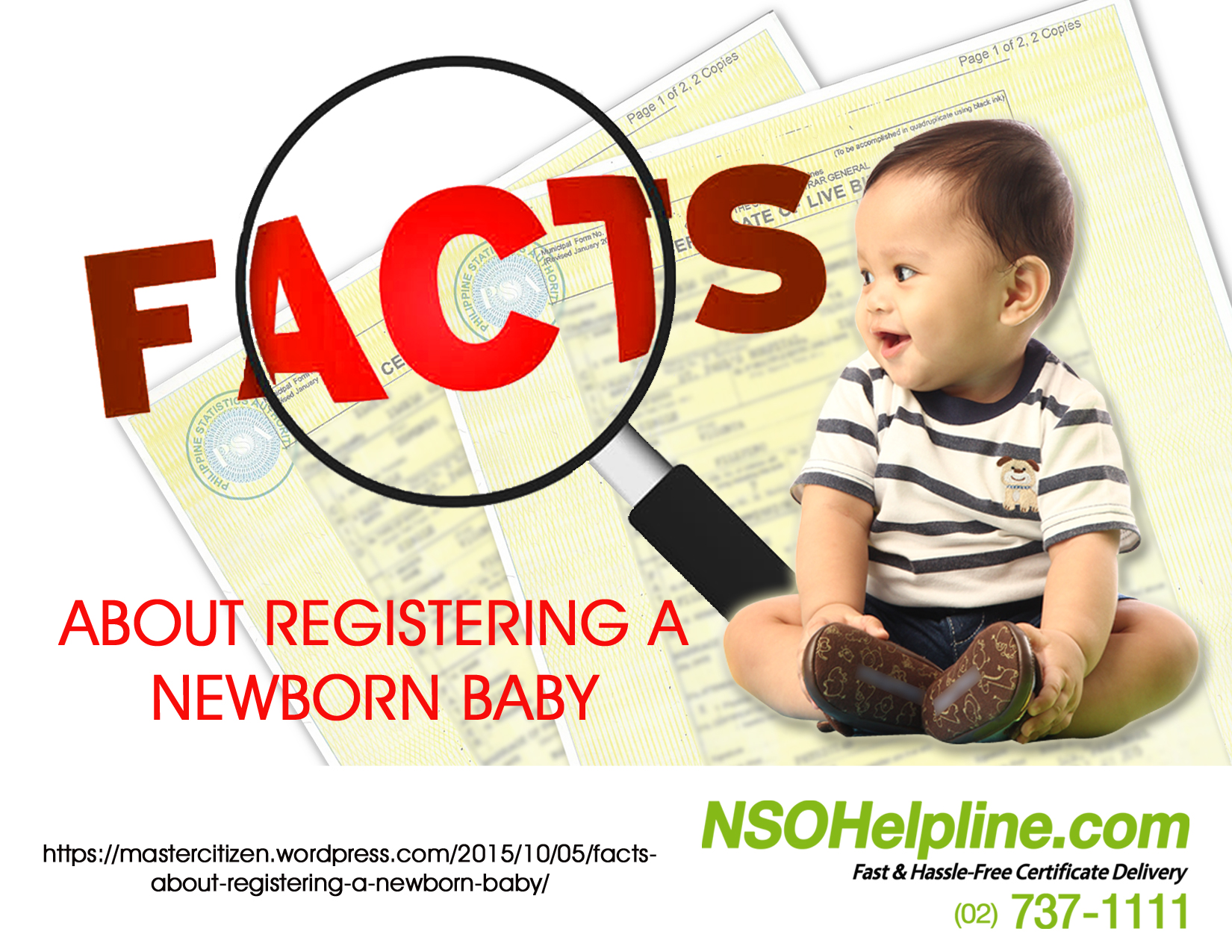 How is the registration of a newborn