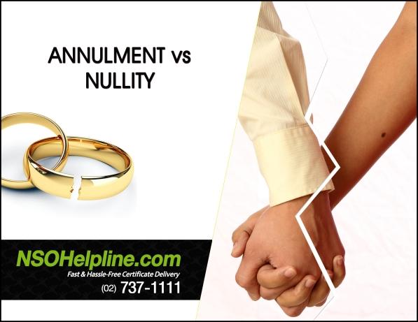 Annulment vs Nullity