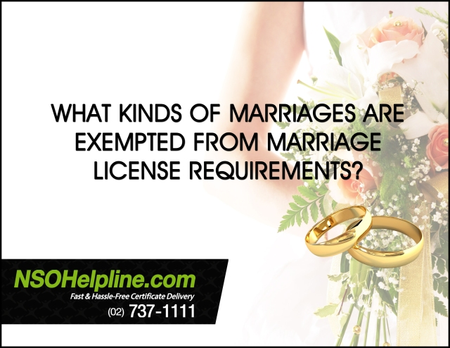 Marriage License Requirements Exemption