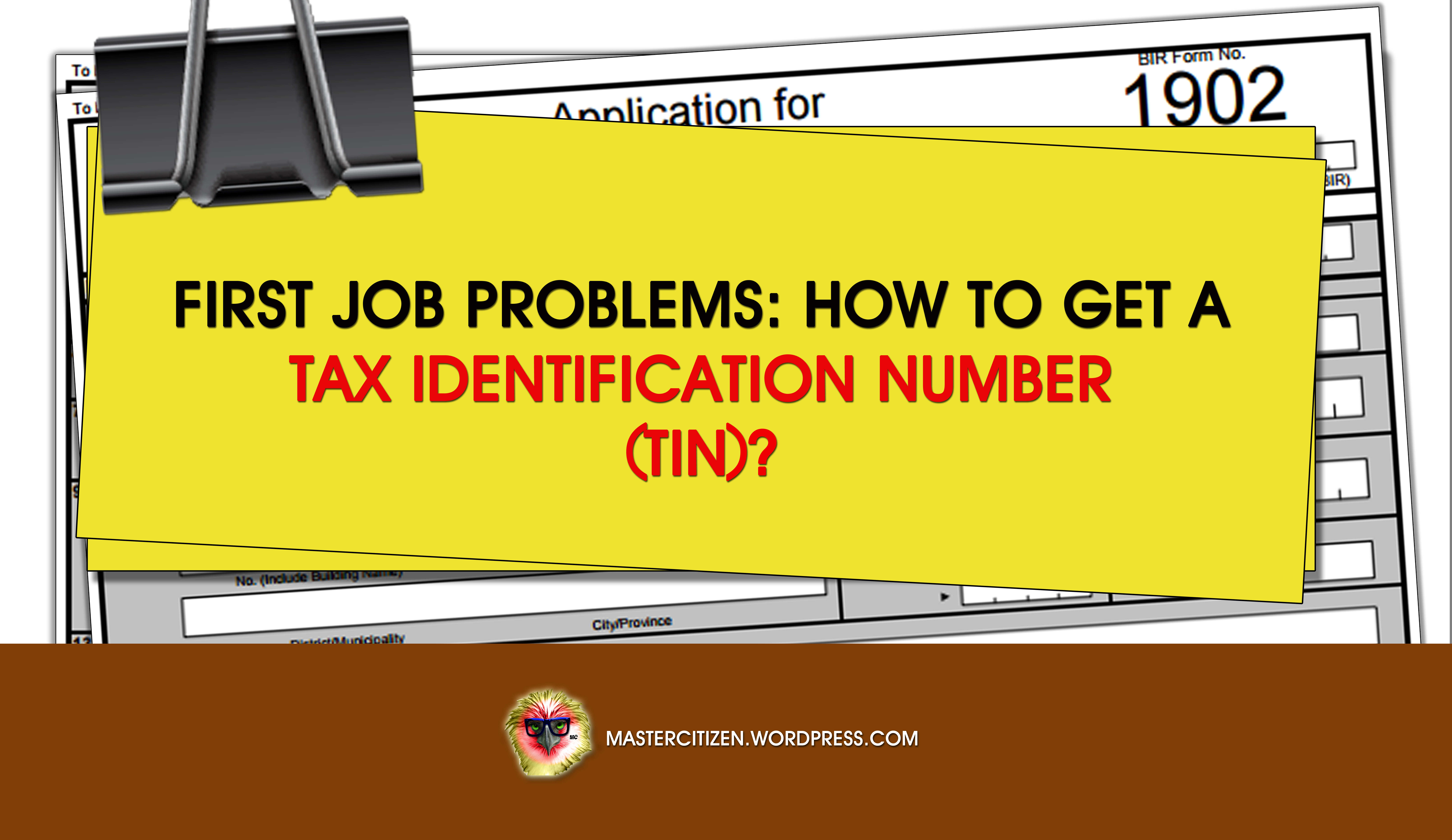 First Job Problems: How Do I Get a Tax Identification Number ... on bir form 1903, bir form 2316 certificate, bir form 1904, bir form wr, bir form 1906,