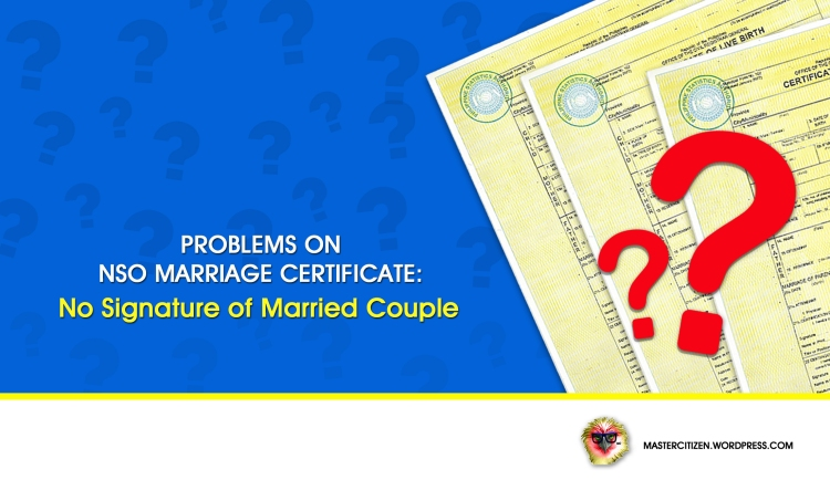 No Signature of Couple
