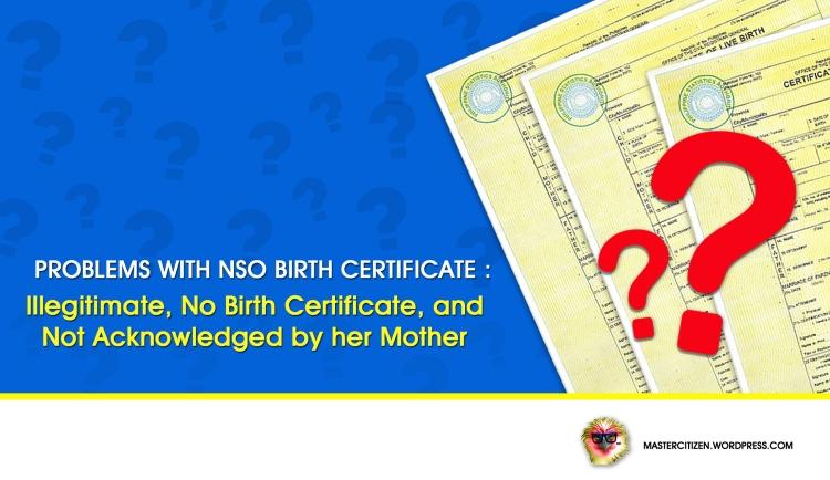 No BC_Illegitimate_No Mother