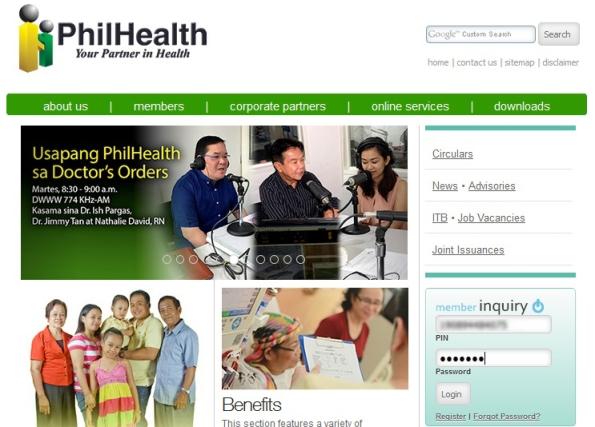 1. Philhealth Login