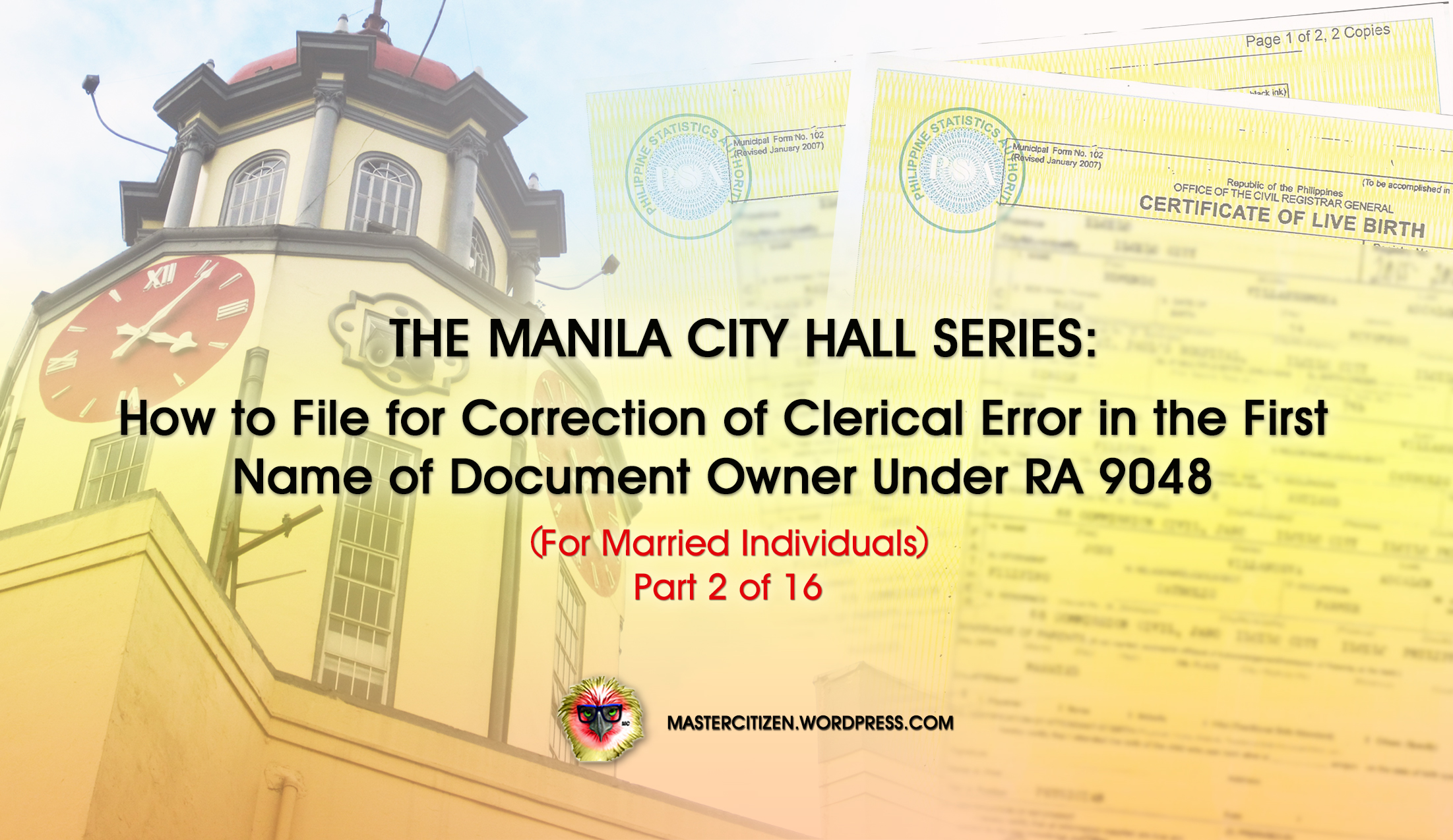 The Manila City Hall Series How To File For Correction Of