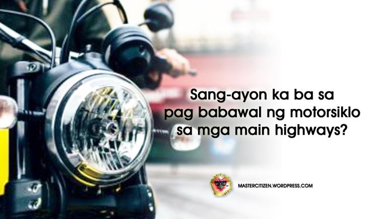 Motorcycle Ban