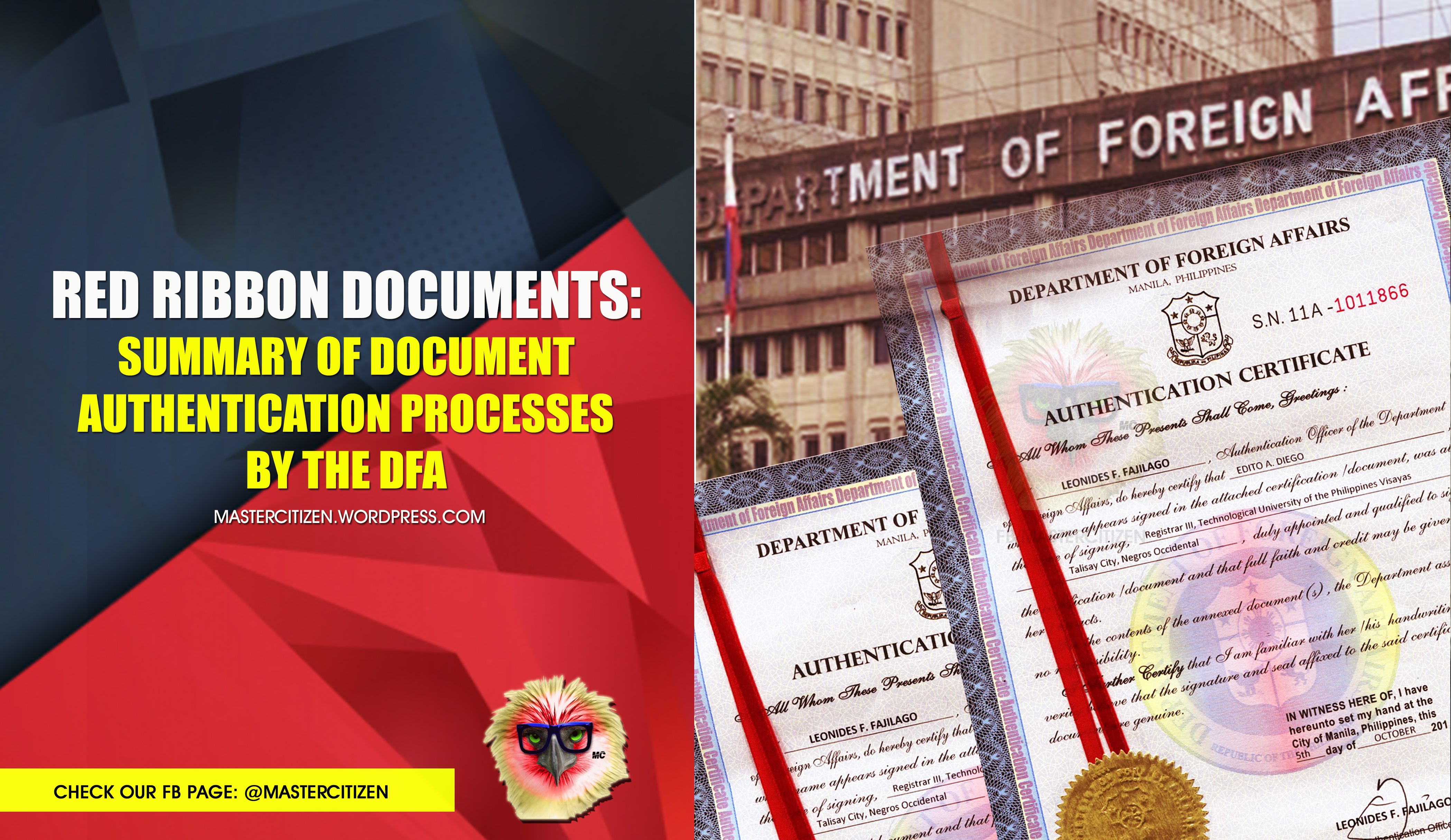 Red ribbon documents summary of document authentication processes red ribbon documents summary of document authentication processes by the dfa mastercitizens blog aiddatafo Gallery