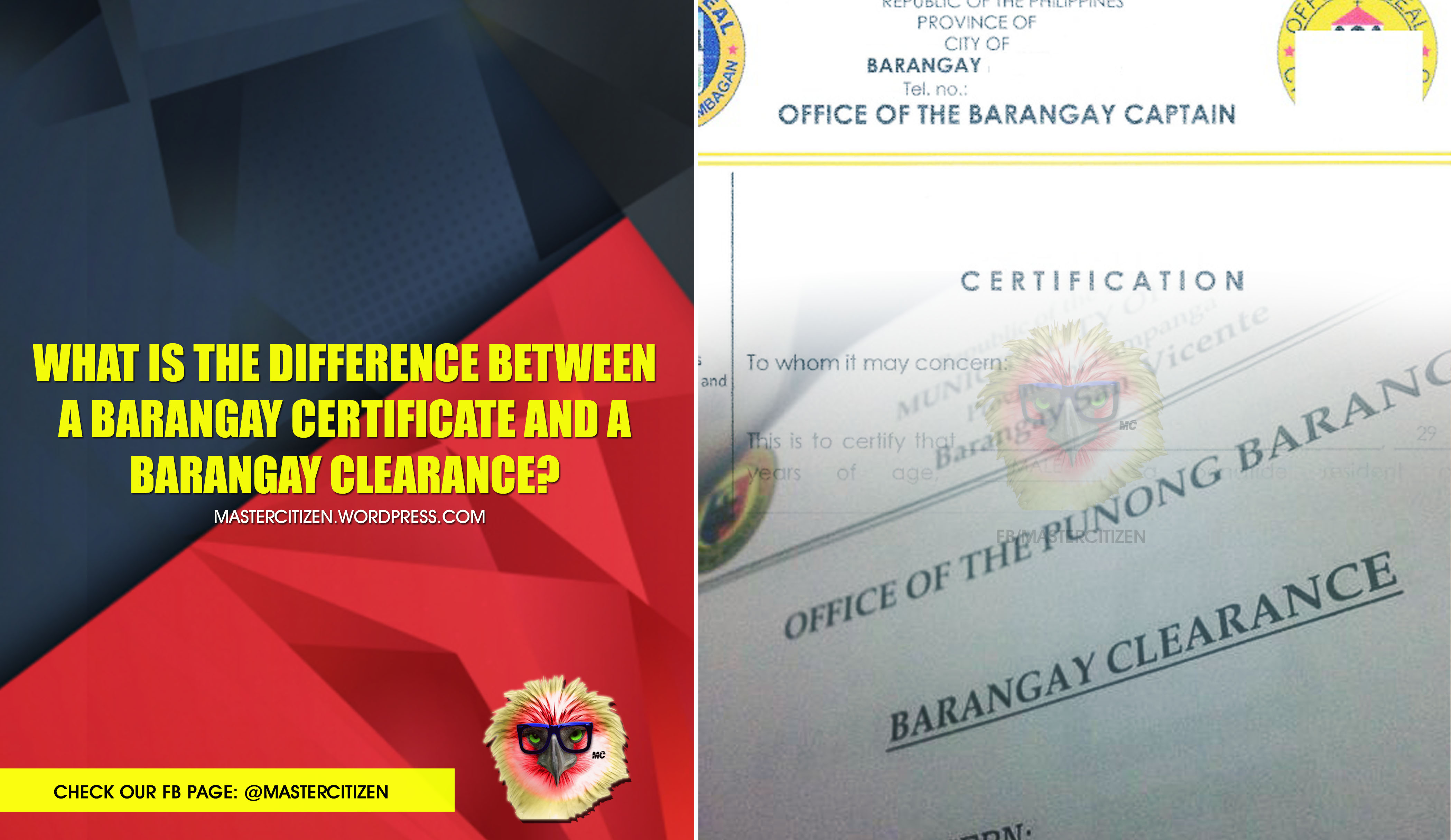 What is the Difference Between a Barangay Certificate and a