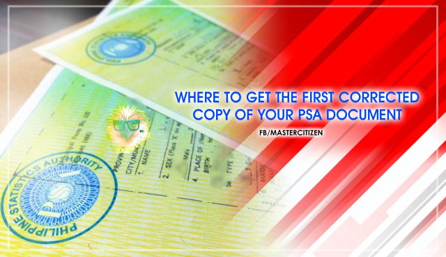 Birth Certificate Correction Of Entry Mastercitizen S Blog
